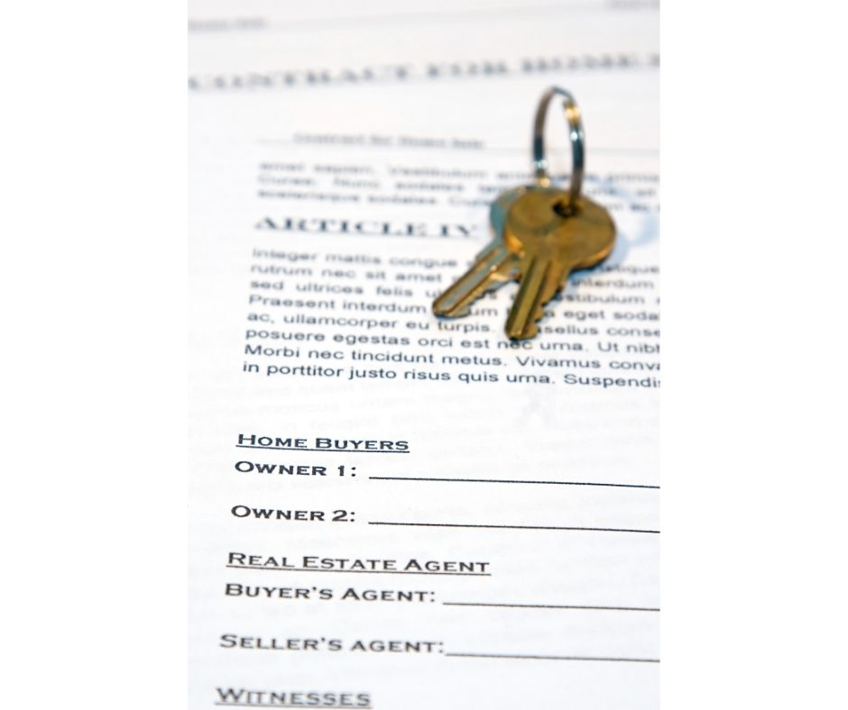 Contract with keys on paper